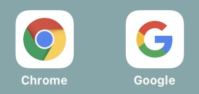 Google ChromeとGoogleアプリ